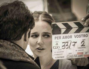 """Valeria Golinoon the set of """"Per Amor Vostro"""""""