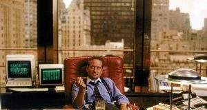 Michael Douglas interpreta Gordon Gekko in Wall Street di Oliver Stone