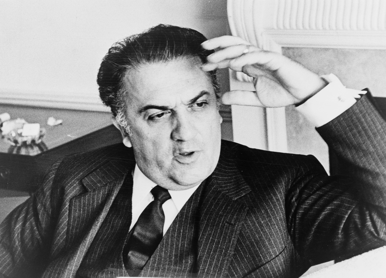 Ritratto fotografico di Federico Fellini