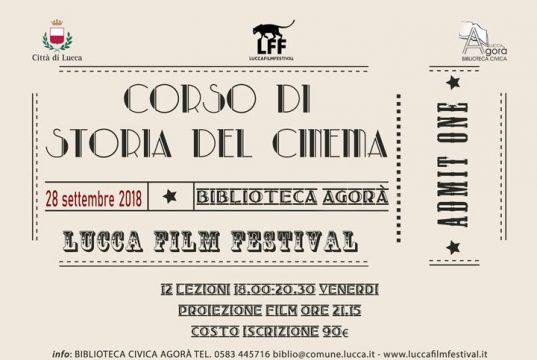locandina del corso di storia del cinema - lucca 28 settembre - 21 dicembre 2018