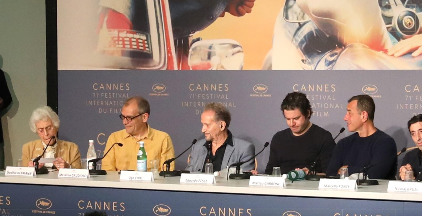 Massimo Gaudioso alla presentazione di Dogman al festival di Cannes