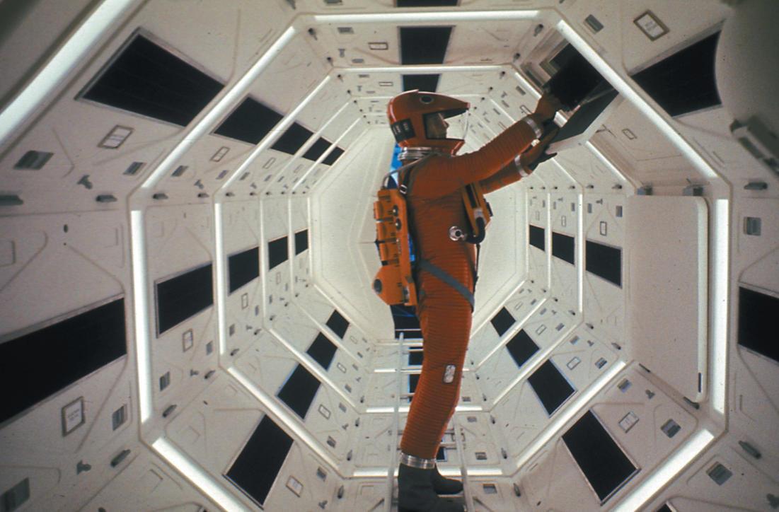 scena del film 2001: Odissea nello spazio di Stanley Kubrick