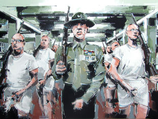 Ritratto del film Full metal jacket - tributo a Stanley Kubrick