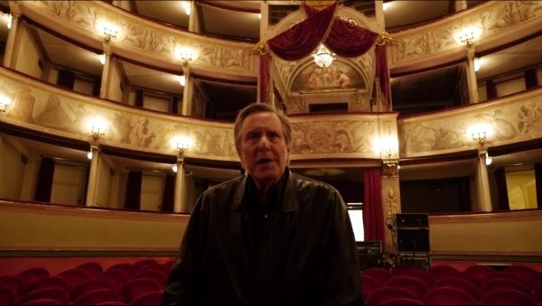 William Friedkin inside the Theater of Giglio in Lucca 2